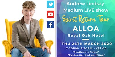 "Andrew Lindsay Medium Live in ALLOA  ""Spirit Return Tour"""