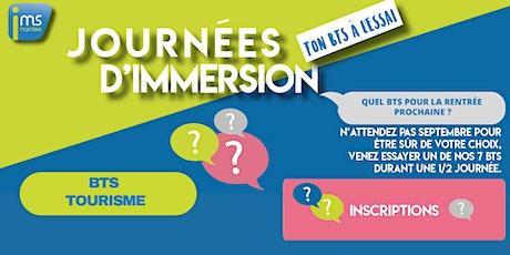 JOURNÉES D'IMMERSION BTS TOURISME billets