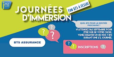 JOURNÉES D'IMMERSION BTS ASSURANCE billets