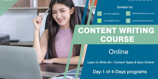 Day 1 Content Writing Course Online