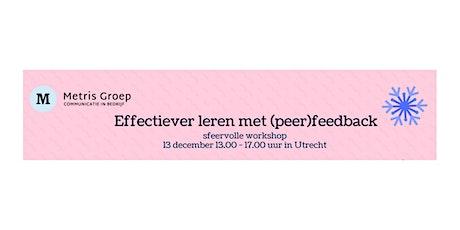 Workshop Peerfeedback Metris Groep tickets