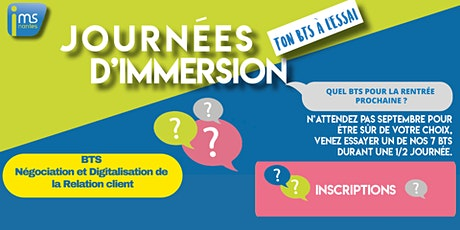 JOURNÉES D'IMMERSION BTS NDRC billets
