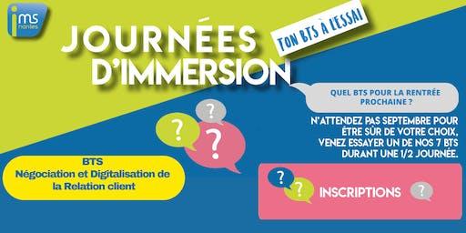 JOURNÉES D'IMMERSION BTS NDRC