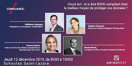 Cloud Act : Etre  RGPD compliant pour mieux protéger vos données ? billets