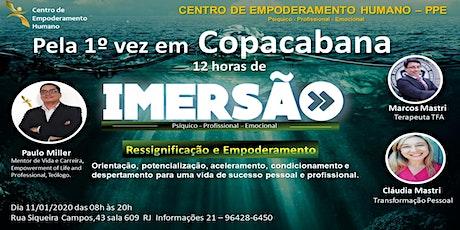 CENTRO DE EMPODERAMENTO HUMANO -12 HORAS DE IMERSÃO/COPACABANA ingressos