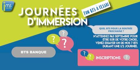 JOURNÉES D'IMMERSION BTS BANQUE billets