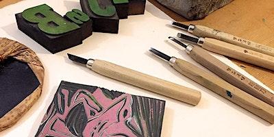 Atelier gravure / Création d'une carte originale avec l'Atelier Vis-à-Vis