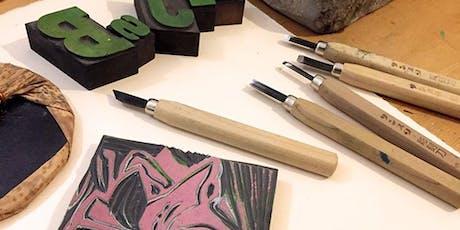 Atelier gravure / Création d'une carte originale avec l'Atelier Vis-à-Vis tickets