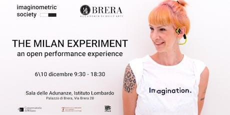 THE MILAN EXPERIMENT biglietti