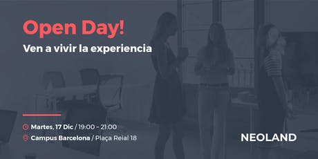 Open Day! Barcelona tickets