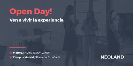 Open Day! Madrid tickets