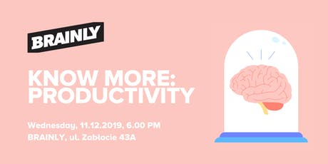 Know More: Productivity tickets