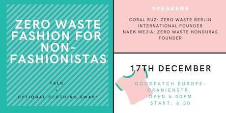 Zero Waste Fashion for Non-Fashionistas tickets