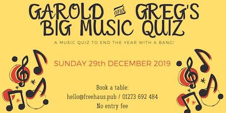 Garold & Greg's Big Music Quiz tickets