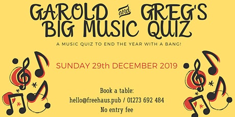 Garold & Greg's Big Music Quiz tickets