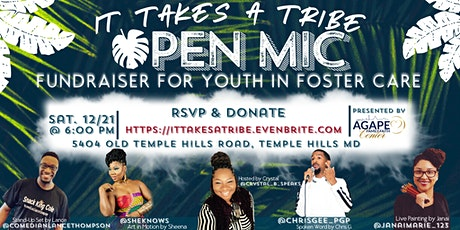 It Takes A Tribe: Open Mic Fundraiser for Foster Care Youth tickets