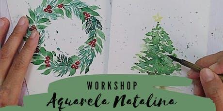Maceió - Workshop de Aquarela Natalina ingressos