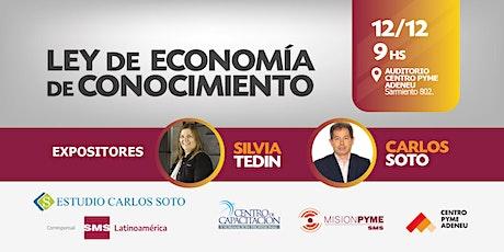 LEY DE ECONOMÍA DEL CONOCIMIENTO entradas