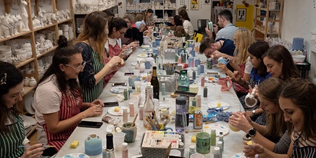 Pottery Painting - Saturday Late Night BYOB Session tickets
