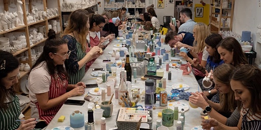 Pottery Painting - Saturday Late Night BYOB Session