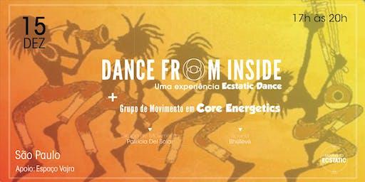 Dance From Inside e Grupo de Movimento em Core Energetics