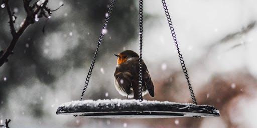 Ceramic Winter Bird Feeder