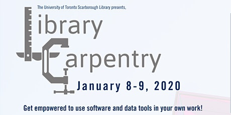 Library Carpentry Workshop at the University of Toronto Scarborough Library tickets