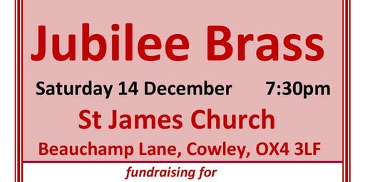 Jubilee Brass concert for Cowley festival of Christmas trees