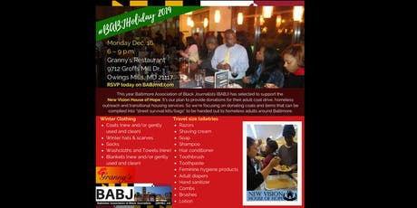 2019 #BABJHoliday to benefit New Vision House of Hope tickets