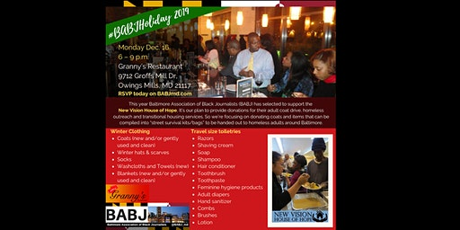 2019 #BABJHoliday to benefit New Vision House of Hope