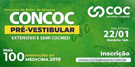 Concurso de Bolsa de Estudos - CONCOC Pré-Vestibular 2020 | COC Balneário ingressos