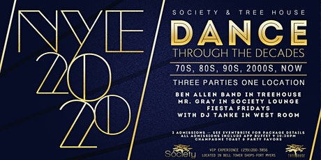 New Years Eve Bash - Dance through the Decades with Society tickets