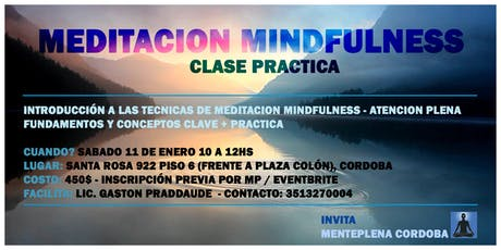 Clase & Práctica de Meditación Yoga y Mindfulness boletos