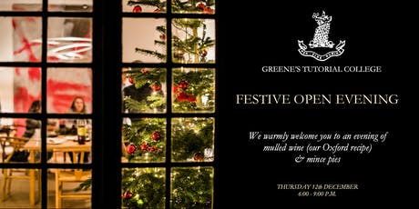 GREENE'S FESTIVE OPEN EVENING bilhetes