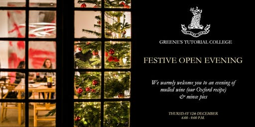 GREENE'S FESTIVE OPEN EVENING