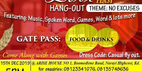 It is a love feast  hangout party. Come n have fun in his presence