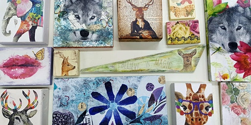 Decoupage Class- Upcycled Wall Art