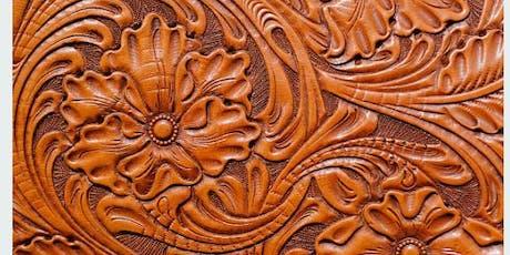 Corso base leather carving: cesellatura artistica del cuoio biglietti