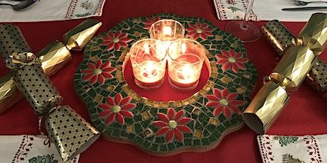 Festive tabletop Mosaic Wreath Workshop tickets