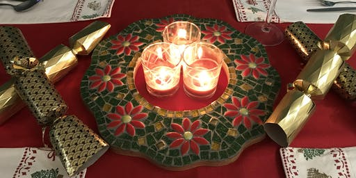 Festive tabletop Mosaic Wreath Workshop