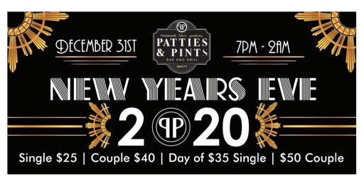 New Years Eve @ Patties & Pints