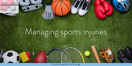 Managing sports injuries tickets