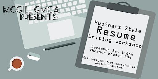 Business-style Resumé Writing Workshop