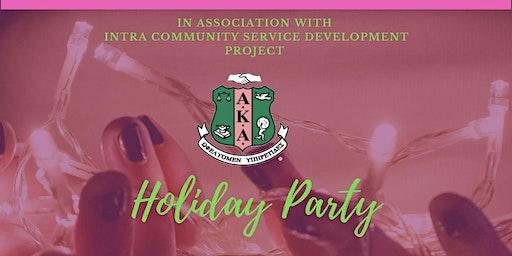 AKA Iota Epsilon Omega Chapter Holiday Party!