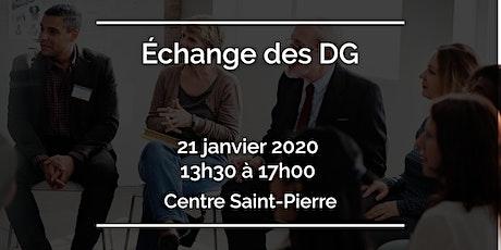 Échange des DG billets