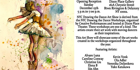 Opening Reception – NYC Drawing the Dance 2019 Art Show tickets