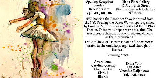 Opening Reception – NYC Drawing the Dance 2019 Art Show