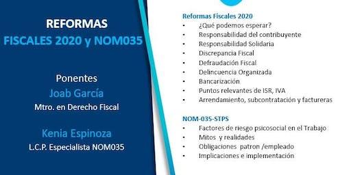 Reformas Fiscales 2020 y NOM035- STPS (Toluca)