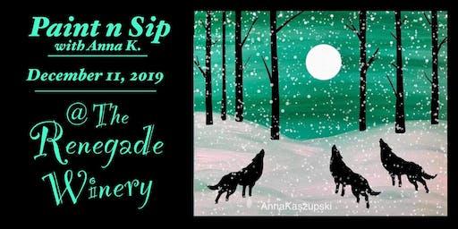 Paint n Sip- Winter Wolves @ Renegade