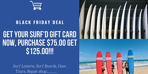 Black Friday Surf'd Shop Gift Card